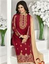 photo of Red Georgette Pakistani Style Salwar Kameez-1119