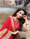 photo of Embellished Georgette Red Function Wear Saree