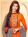 photo of Georgette Casual Style Churidar Dress With Fancy Printed Dupatta