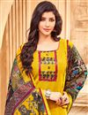 photo of Georgette Fabric Casual Churidar Suit With Trendy Printed Dupatta