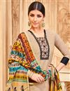 photo of Georgette Straight Cut Dress With Printed Dupatta