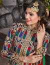 photo of Party Wear Art Silk Blue Semistitched Fancy Anarkali Dress