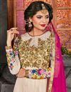photo of Function Wear Net Embroidered Semistitched Anarkali Suit