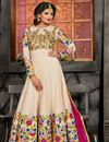 image of Function Wear Net Embroidered Semistitched Anarkali Suit