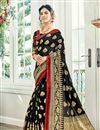 image of Wedding Wear Cotton Silk Fancy Weaving Work Saree