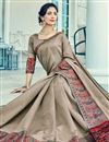 photo of Weaving Work Dark Beige Designer Function Wear Saree