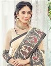 photo of Cotton Silk Beige Saree With Weaving Work Embroidery