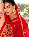 photo of Red Embellished Fancy Saree Georgette And Net Saree With Lace