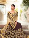 image of Wedding Function Wear Lycra And Net Embroidered Saree