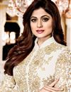 photo of Shamita Shetty Function Wear Suit In Georgette With Front Slit