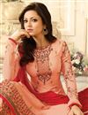 photo of Festive Special Drashti Dhami Georgette Embroidered Palazzo Suit In Salmon