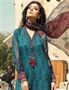 photo of Party Style Cotton Fabric Teal Designer Dress