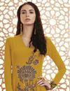 photo of Party Wear Georgette Mustard Anarkali Dress