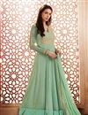 image of Georgette Party Style Anarkali Suit In Sea Green