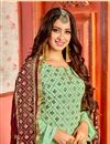 photo of Festive Wear Sea Green Sharara Dress In Georgette Fabric With Embroidery