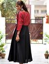 photo of Cotton Designer Kurti In Black With Fancy Work