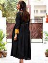 photo of Fancy Work On Black Rayon Fabric Function Wear Kurti