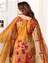 photo of Printed Cotton Fabric Cream Straight Cut Churidar Dress