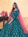 photo of Exclusive Function Wear Fancy Embroidered Lehenga Choli In Sky Blue Satin