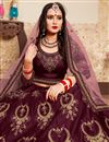 photo of Exclusive Wedding Function Wear Burgundy Color Satin Fabric Designer Lehenga Choli