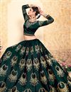 photo of Exclusive Satin Designer Function Wear Embroidered Lehenga In Teal