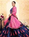 photo of Exclusive Navy Blue Designer Function Wear Embroidered Lehenga In Satin