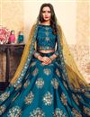 photo of Exclusive Function Wear Sky Blue Fancy Embroidered Lehenga Choli In Satin