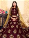 photo of Exclusive Satin Fabric Designer Function Wear Embroidered Lehenga In Maroon