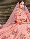photo of Exclusive Embellished Fancy Salmon Color Lehenga Choli In Satin Fabric