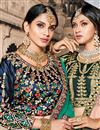 photo of Exclusive Function Wear Teal Fancy Lehenga In Satin Fabric
