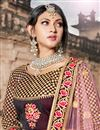 photo of Exclusive Function Wear Maroon Fancy Lehenga In Taffeta Fabric