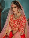 photo of Exclusive Traditional Wear Art Silk Embroidered Designer Lehenga Choli In Red