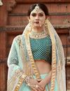 photo of Exclusive Sea Green Embellished Fancy Lehenga Choli In Art Silk