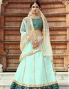 image of Exclusive Sea Green Embellished Fancy Lehenga Choli In Art Silk