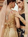 photo of Exclusive Designer Embroidered Beige Net Fabric Lehenga Choli