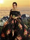 photo of Black Color Sangeet Function Wear Printed Fancy Fabric Lehenga