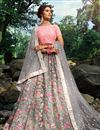 image of Exclusive Function Wear Grey Color Designer Net Fabric Embroidered Lehenga Choli