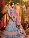 image of Exclusive Organza Fabric Multi Color Wedding Wear 3 Piece Lehenga Choli