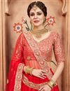 photo of Exclusive Sangeet Function Wear Net Fabric Embroidered Lehenga Choli In Red