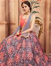 photo of Exclusive Function Wear Designer Net Fabric Embroidered Grey Lehenga Choli