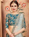 photo of Exclusive Function Wear Designer Teal Embroidered Art Silk Lehenga Choli
