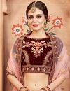 photo of Exclusive Function Wear Designer Maroon Lehenga Choli In Velvet With Embroidery