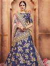 image of Exclusive Art Silk Embroidered Function Wear Designer Navy Blue Fancy Lehenga Choli
