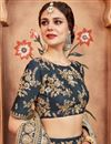photo of Exclusive Function Wear Designer Art Silk Embroidered Grey Lehenga Choli
