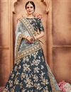 image of Exclusive Function Wear Designer Art Silk Embroidered Grey Lehenga Choli