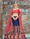 image of Exclusive Navy Blue Art Silk Wedding Wear Embellished Fancy Lehenga Choli
