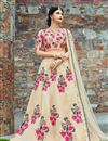photo of Exclusive Designer Wedding Wear Fancy Embellished Lehenga In Art Silk