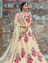 image of Exclusive Art Silk Wedding Wear Embellished Designer Lehenga