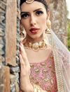 photo of Exclusive Embroidered Fancy Wedding Wear Lehenga In Pink