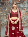 photo of Exclusive Wedding Wear Embroidered Fancy Lehenga Choli In Red